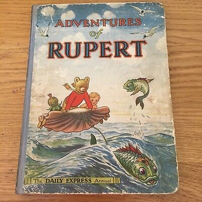 1950 - Adventures of Ruppert - 1st Edition - Alfred Bestall Great Rare Find