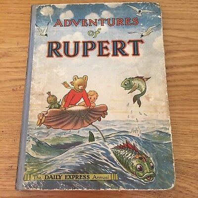 1950 - Adventures of Ruppert - First Edition - Alfred Bestall Great Rare Find in