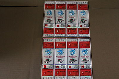 """8 Toronto Blue Jays single tickets to """"The World Series That Never Was""""-1987"""