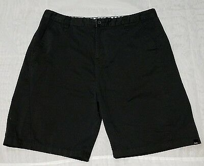 RUSTY Men's Black Flat Front Chino Casual Shorts Size-40