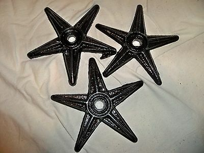 3 Cast Iron Stars Architectural Stress Washer Texas Lone Star Rustic Ranch 7inch