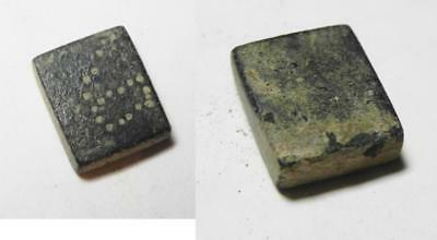 ZURQIEH -AA7451- ROMANO-BYZANTINE. Square bronze weight (12 X 10mm, 3.61g) inscr