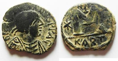ZURQIEH -aa7548- CHOICE FOR THE TYPE: BYZANTINE. Justinian I (AD 527-565). AE fo