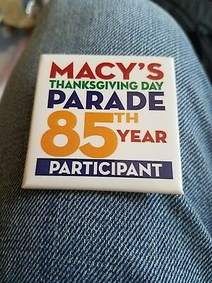 Macy's thanksgiving day parade pin 85th year participant