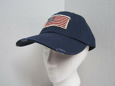 3e8c774c35134 USA AMERICAN FLAG Distressed Vintage Ball Cap - Navy Blue -  16.50 ...