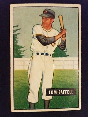 1951 Bowman Baseball Card 130 Tom Saffell RC