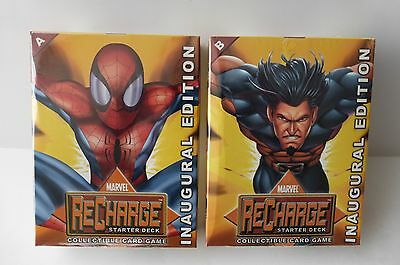 2 Marvel ReCharge Starter Deck Card Game Inaugural Edition A B