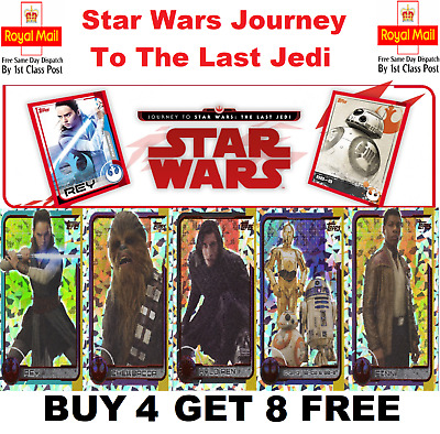 TOPPS STAR WARS - Journey To The Last Jedi FOIL Cards #169-200  BUY 4 GET 8 FREE
