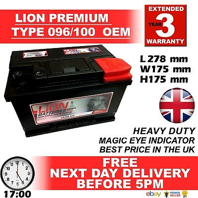 LION Type 100 Car Battery 620CCA 3 Years Warranty Lion Batteries 12V 70Ah Sealed