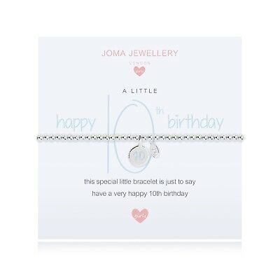 Joma Jewellery Girls Disc Charm CHILDRENS Silver Plated Bracelet 10th Birthday