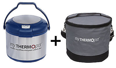 Premium 5L My Thermo Pot & Bag Set! Thermal Mythermopot Camping Cooker Blue