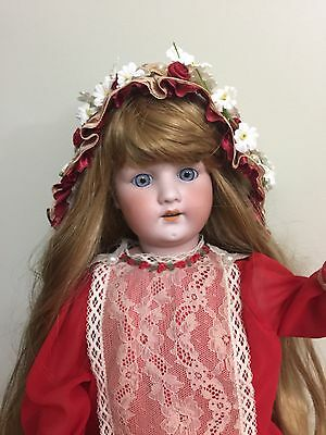"Antique Doll 250.4 Bisque On A Comp Body 25"" Tall"