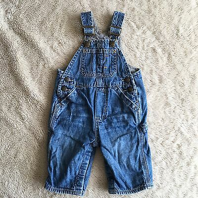 bcb76170e Baby Gap 3-6 Months Boys Soft Jersey Cotton Lined Denim Jeans Overalls EUC