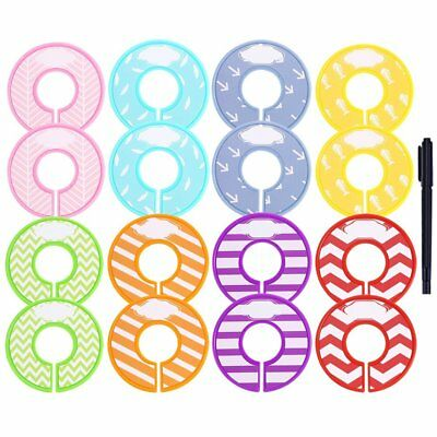 Caydo 16 Pieces Colorful Baby Boy Girl Closet Dividers Clothing Rack Size with