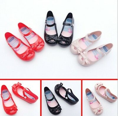 NEW Mini Melissa Jelly Crystal Bowknot Princess Shoes Girls Sandals US Size 6-11