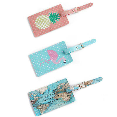 Passport Holder Pu Leather Wallet Cover Luggage Tags Suitcase Label Address ID