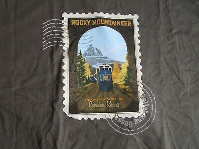 Rocky Mountaineer - Canadian Train - Postage Olive Extra Large T-Shirt