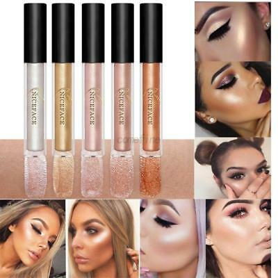 Face Makeup Liquid Shimmer Highlighter Brightener Glitter Shiny Eyeshadow Cream