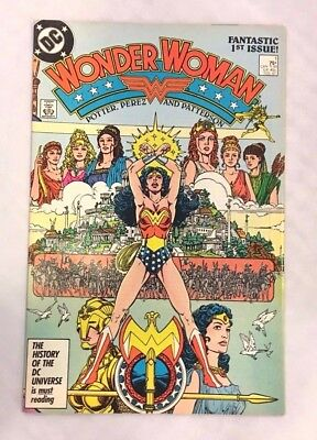 Wonder Woman #1 (DC comics 1987) 1st issue!! Post-Crisis F/VF (B)