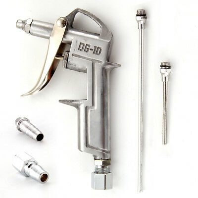 Dust Removing Air Blow Gun Cleaning Tool Tone Silver With Extendable Nozzle New