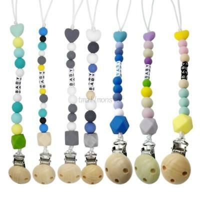 Silicone Infant Baby Pacifier Holder Clips Chain Dummy Soother Nipple Clip Strap