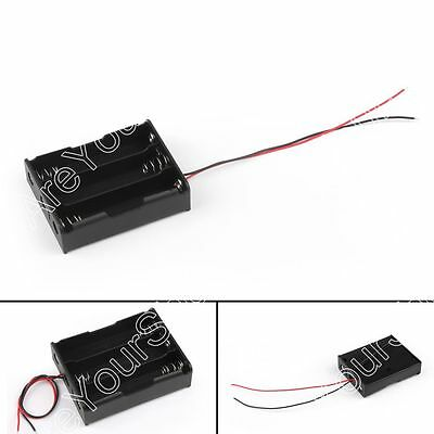 3 Cell 18650 Series Battery Holder Storage Case With Wire Leads 11.1V B