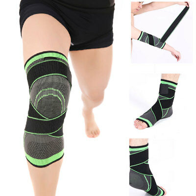1PC 3D Weaving Pressurization Brace Cycling Knee Support Sports Pad Breathable