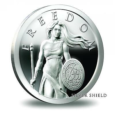 2014 Silver Shield Standing Freedom 1 oz .999 Proof COA #1311 of 2300 Minted