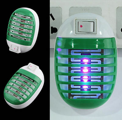 Bug Socket Mini LED Trap Zapper Insect Killer Mosquito Fly Hot Night Lamp