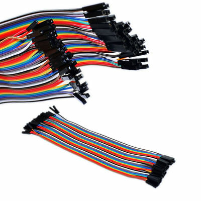 40PCS Cables Dupont Jumper Line Wire 20cm Pin Connector Female to Female