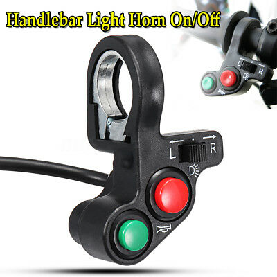 Motorcycle 3in1 Head/Turn Signal Light/Horn ON-OFF Switch Handlebar Button