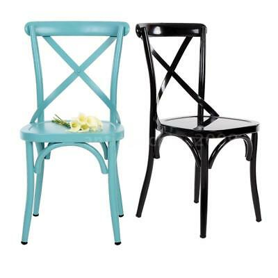 Industrial Antique Design Metal Kitchen Breakfast Dining Chair Garden Stool O5G3