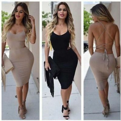 Sexy Women Party Dress Night Dress Wear Bandage Evening Bodycon Cocktail Club