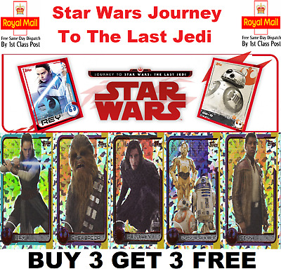 TOPPS STAR WARS - Journey To The Last Jedi FOILS And GOLD FOILS BUY 3 GET 1 FREE