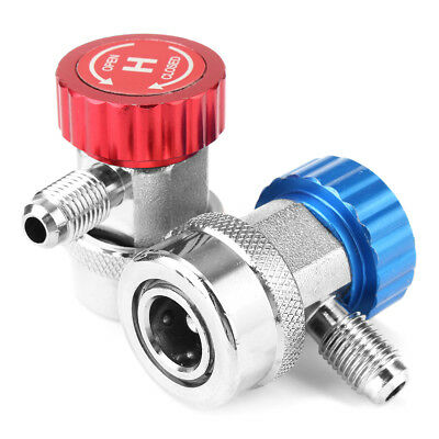 A/C R134a Quick Connectors High&Low Pressure Car Air Conditioner Adapter Coupler