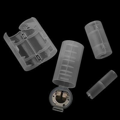 4Pcs Battery Adapter Converter Holder Case Switcher AA To D C AAA To AA Size