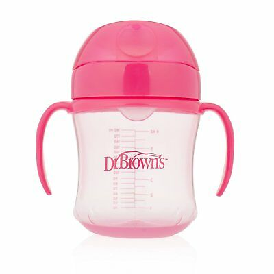 Dr. Brown's Soft-Spout Transition Cup, 6 oz 6m+, Pink, Single