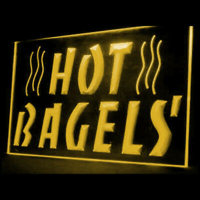 110049 Hot Bagels Coffe Shop Cafe Sweet Cheese Donut Beautiful LED Light Sign
