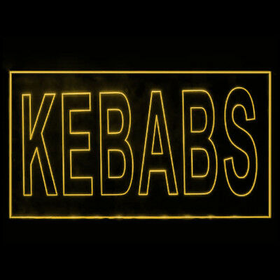 110052 Kebabs Cafe Restaurant Grill Moroccan Chicken Halloumi LED Light Sign