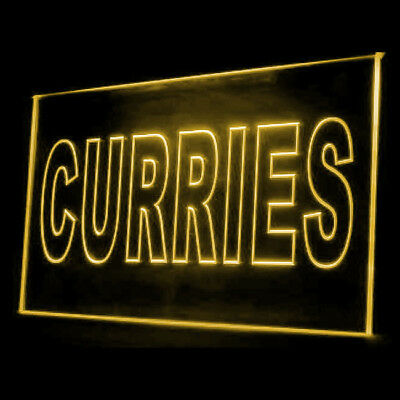 110058 Curries Sauces Cafe Curry Chicken Japanese Shop Chicken LED Light Sign