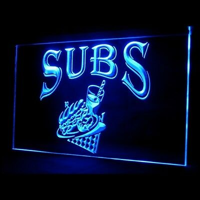 110078 OPEN Subs Beef Chicken Sandwiches Meatball Lettuce Turkey LED Light Sign