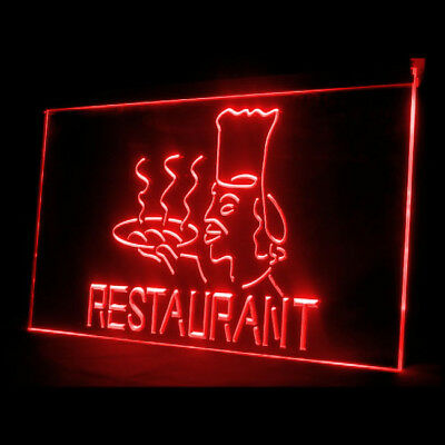 110100 Restaurant Chief Master Kitchen Cooking Food Seafood Star LED Light Sign