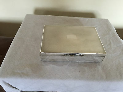 Beautiful Silver Plated Cigarette Box On 4 Bun Feet (Aristocrat)