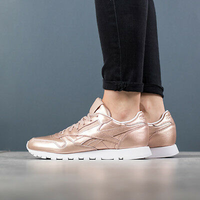 68d6557fe53 WOMEN S SHOES SNEAKERS Reebok Classic Leather Melted Metal  Bs7897 ...