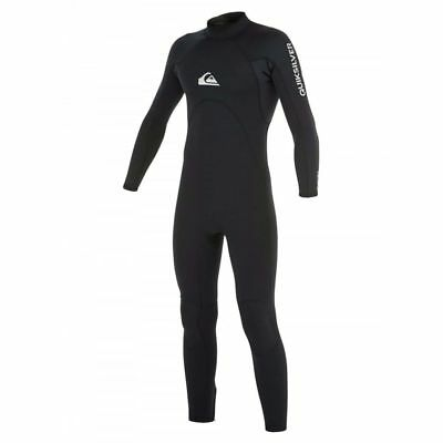 Quiksilver Syncro Base 3/2 Back Zip Wetsuit Mens Unisex Surfing Watersports Surf