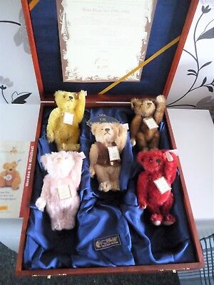 Uk Issued Steiff Baby Bear Set 1994-1998 Collectable And Very Rare .