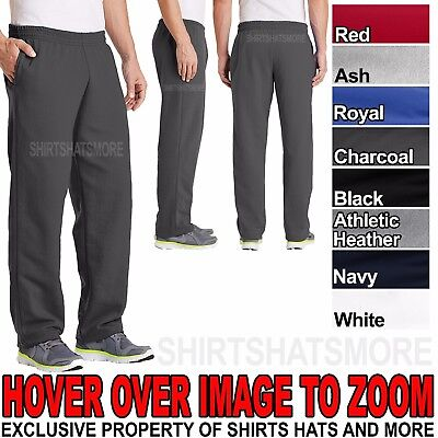 Black open bottom mens sweat pants topic The