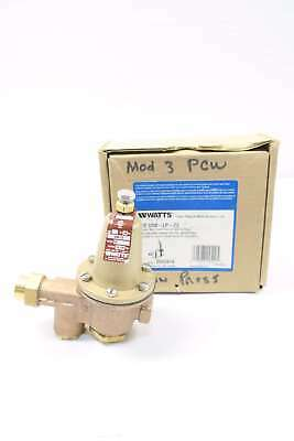 Watts U5B-Lp-Z3 1/2 In Bronze Pressure Reducing Regulator Valve 10-35Psi D575427