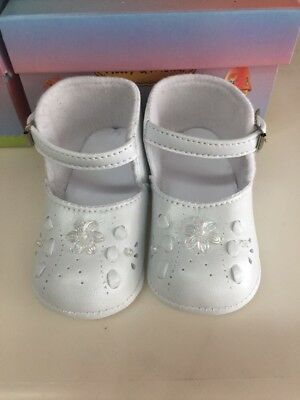 Baby Girl Classic White Shoes Baptism