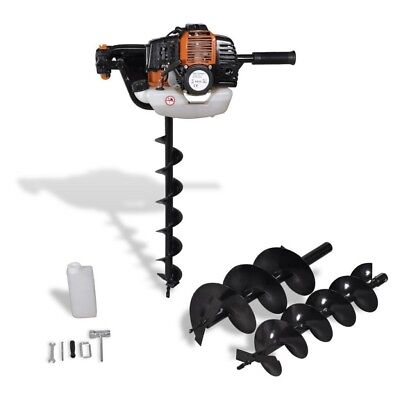 52cc Petrol Earth Auger Post Hole Borer Ground Drill Garden Lawn Tool